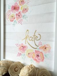 Flowers and Stripes Shabby Chic Garden Theme by ...