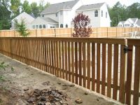 Wood Fence Styles | ft. Cedar Picket with Top Cap ...