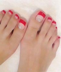 Beautiful Toe Nail Wedding Nail Design | Beautiful toes ...
