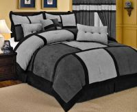 grey comforter sets | Queen Size Comforters  21 Piece ...