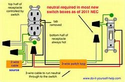 Switch Controlled Outlet Wiring Diagram  Bing Images