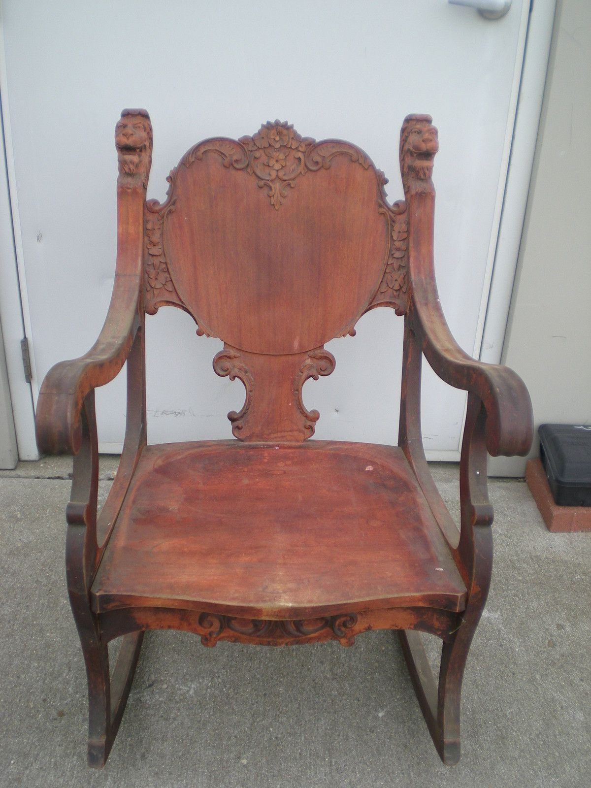 antique rocking chairs without arms white swivel office chair uk 1800s furniture