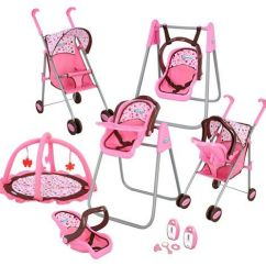 Baby Doll High Chair Toys R Us Pink Inflatable Bubble Graco Stroller Set Strollers 2017