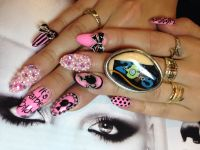 My NAILS art Valerie Ducharme creation Barbie nails in ...