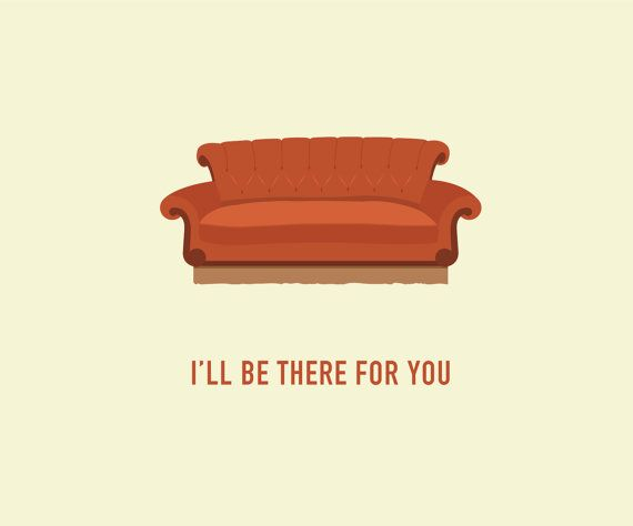 Friends TV Show Card Central Perk Couch Card Any Occasion Card