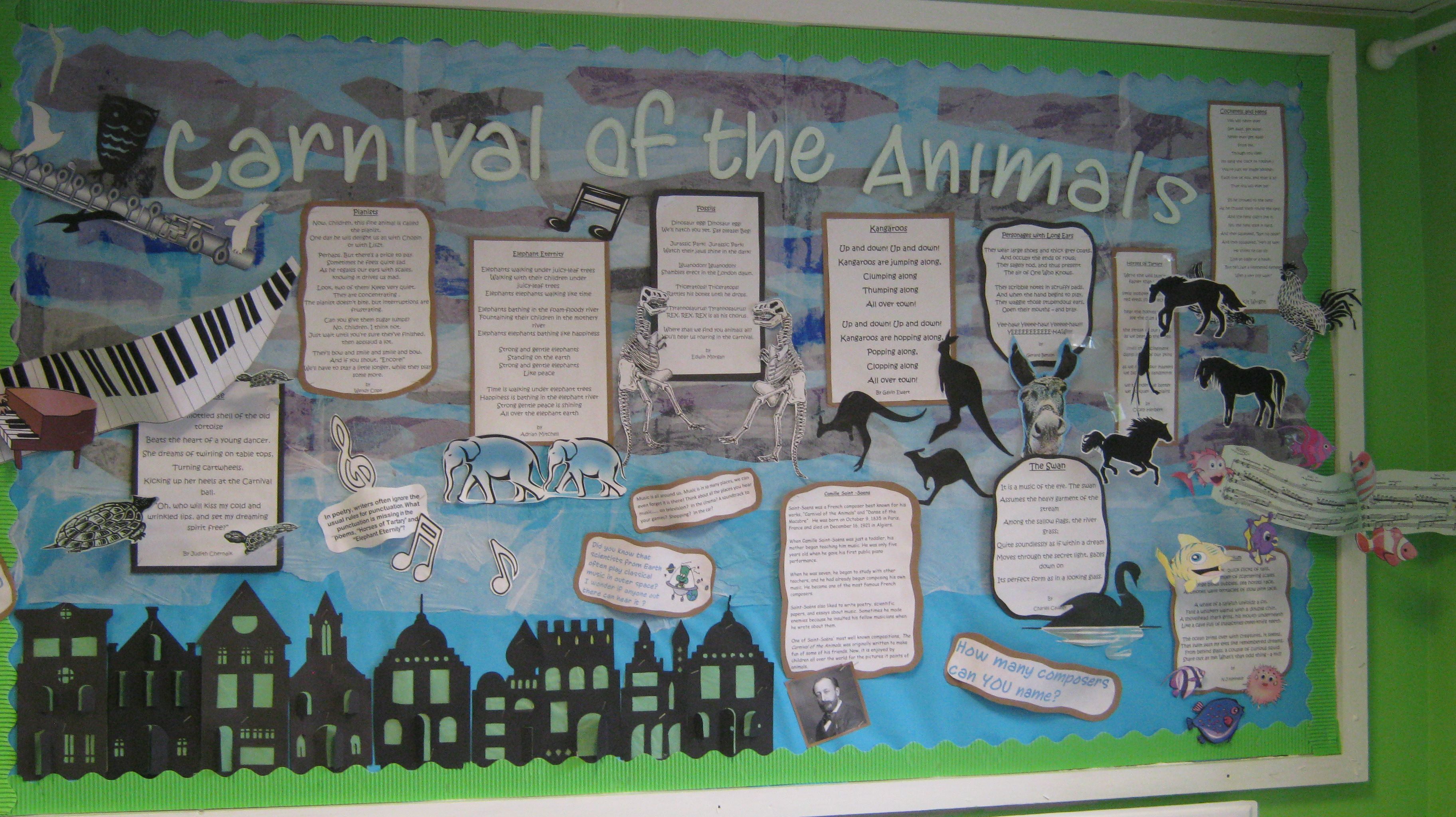 This Library Display Board Represented The Carnival Of The