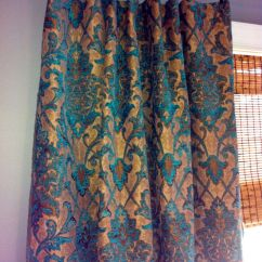 Yellow Grey Living Room Curtains Rooms In Teal Damask Curtain Panel/ Custom Drapery By ...
