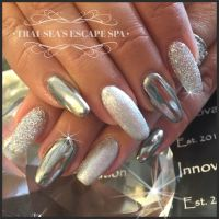 Chrome, glitter and metallic silver by Trai