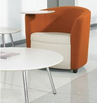 Tablet Arm Bucket Style Chair | chairs with desks attached ...