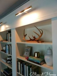 IKEA BILLY Bookcase Library Wall >>> LIGHTS ON REMOTE ...