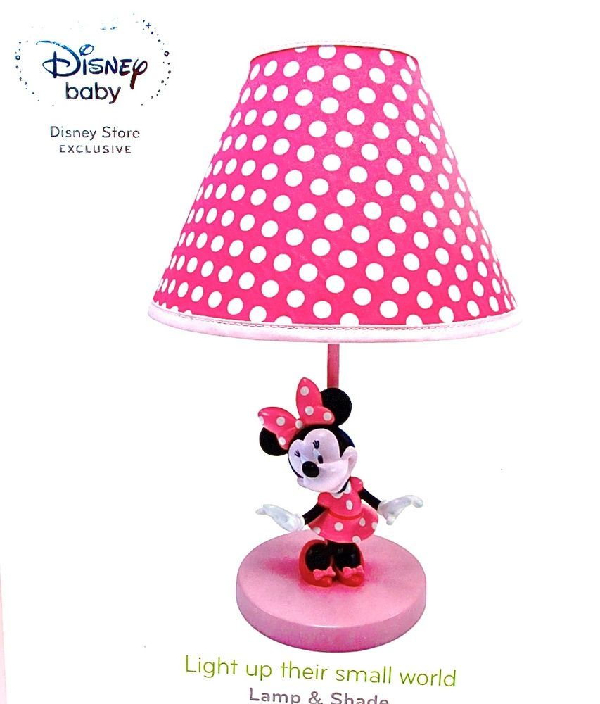 Disney Minnie Mouse Table Lamp,Minnie Mouse on Pink base