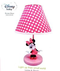 Disney Minnie Mouse Table Lamp,Minnie Mouse on Pink base ...