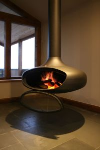 FireBob suspended wood burning stove by Firemaker, door ...