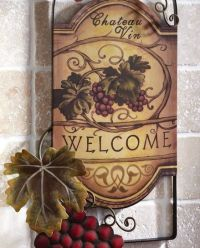 Wine Wall Decor | Wine Bottle Shaped Metal Wall Art ...