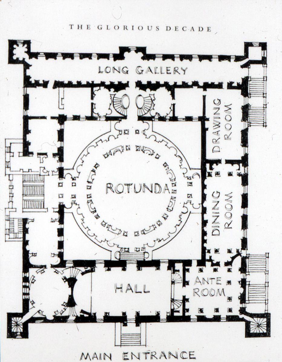 Robert Adam. Plan, Syon House. Middlesex, England 1762-63