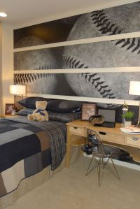 bedroom sports decorating ideas | Baseball Wallpaper ...