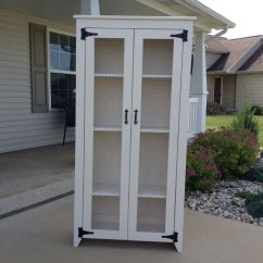 Diy Kitchen Pantry Cabinet Plans Booth Table Chicken Wire Do It Yourself Home Projects From