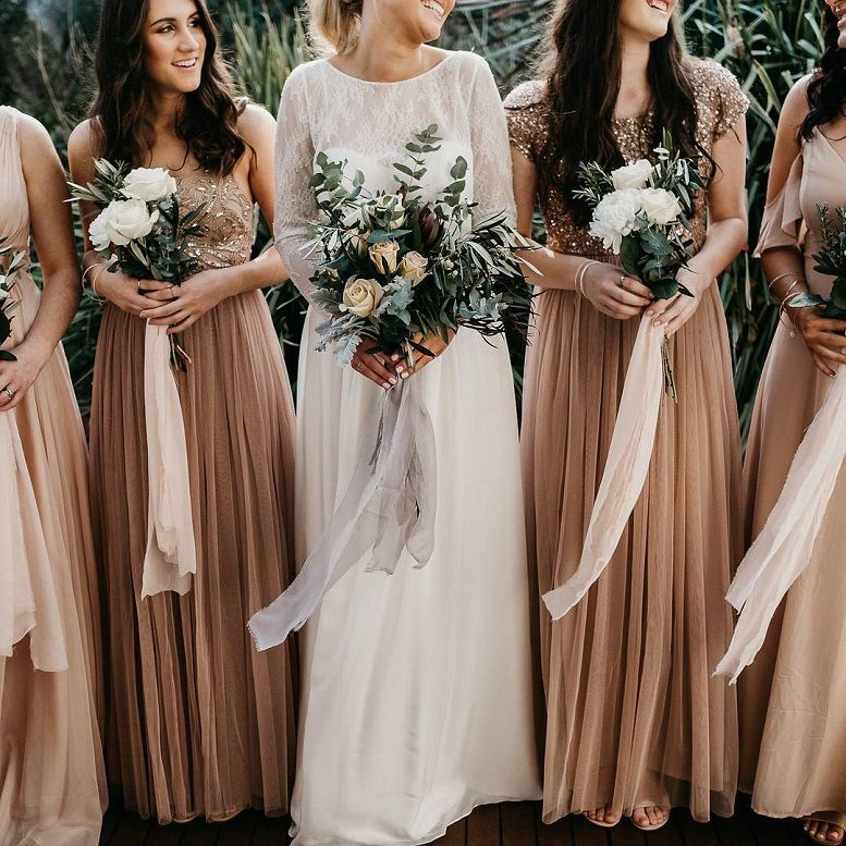 150 gorgeous bridesmaid dress ideas - Coffee colored bridesmaid dresses