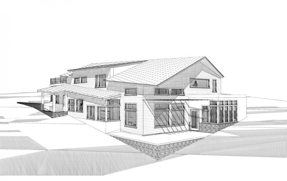 Excellent Modern Home Architecture Sketches On Home Design With
