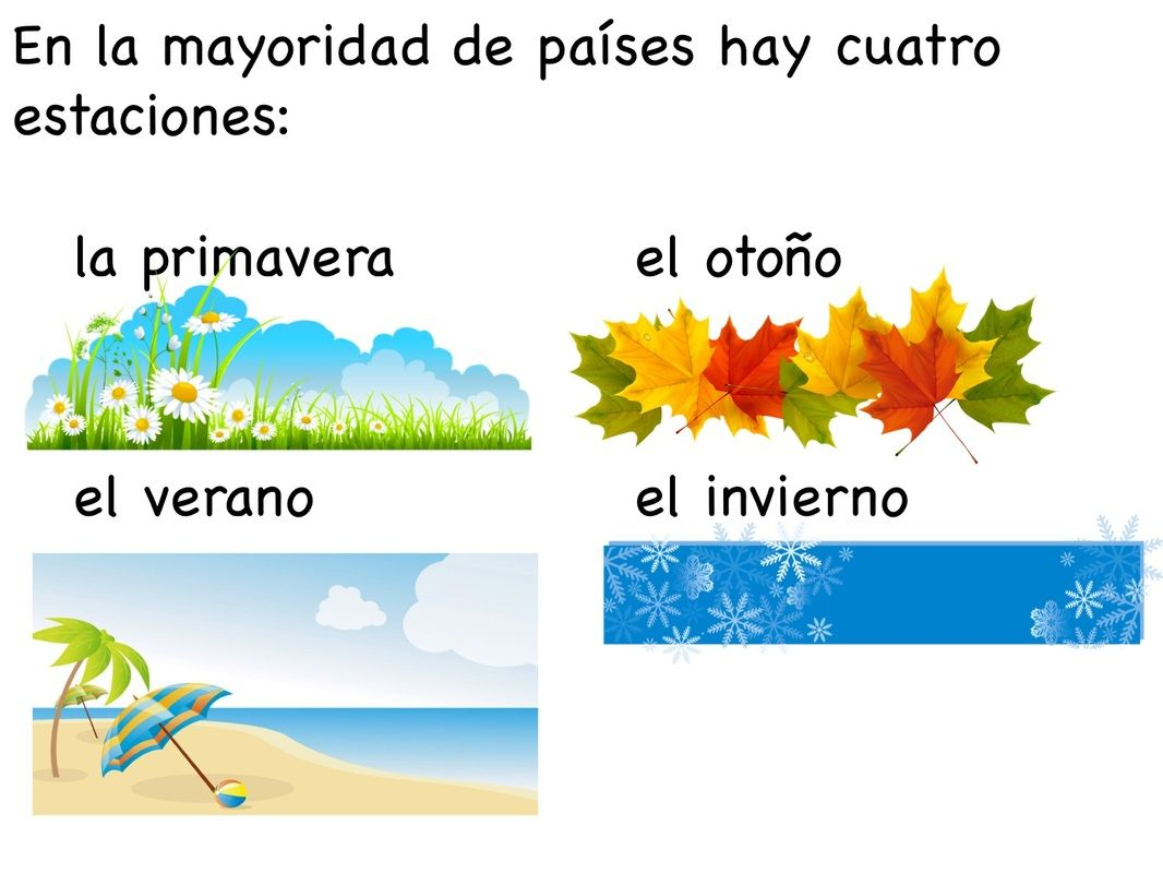 Seasons In Spanish
