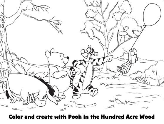 Printable Winnie the Pooh Coloring Pages (23 different