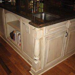 Distressed Wood Kitchen Cabinets Natural Cream Kitchens Pinterest