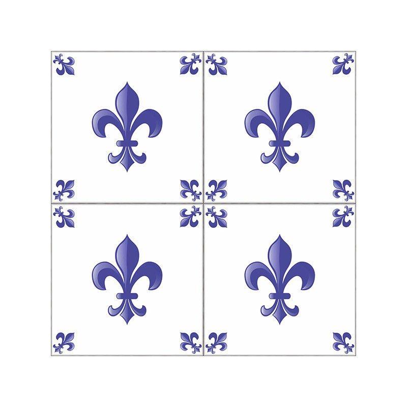 Tecido Adesivo Azulejo Flor de Lis  FLEUR DE LIS