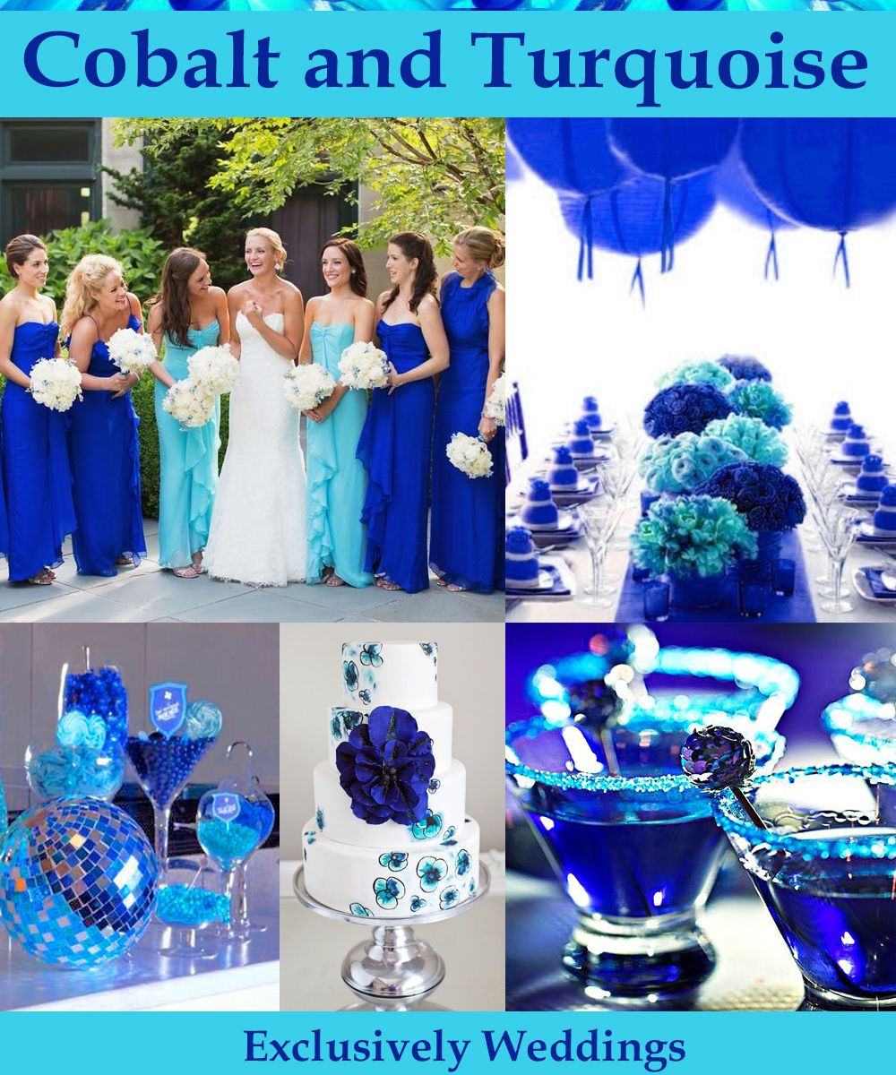 Blue Wedding Color  Five Perfect Combinations  Turquoise weddings Tiffany blue and Cobalt