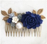 89+ Navy Blue Flowers Png - Navy Blue Hair Flower Clip ...