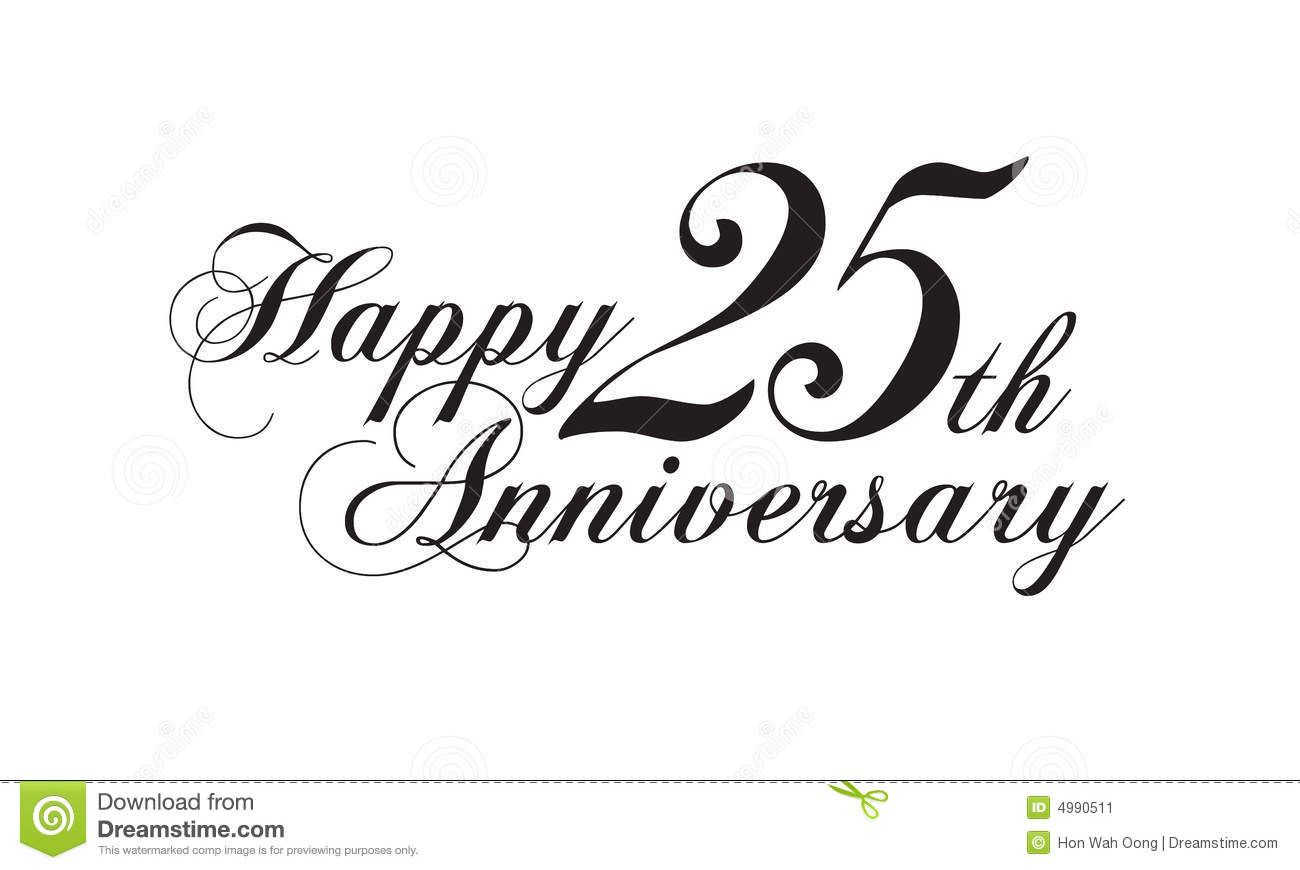 Free 25th Anniversary Clip Art