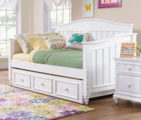full size daybed with trundle storage and white nightstand ...