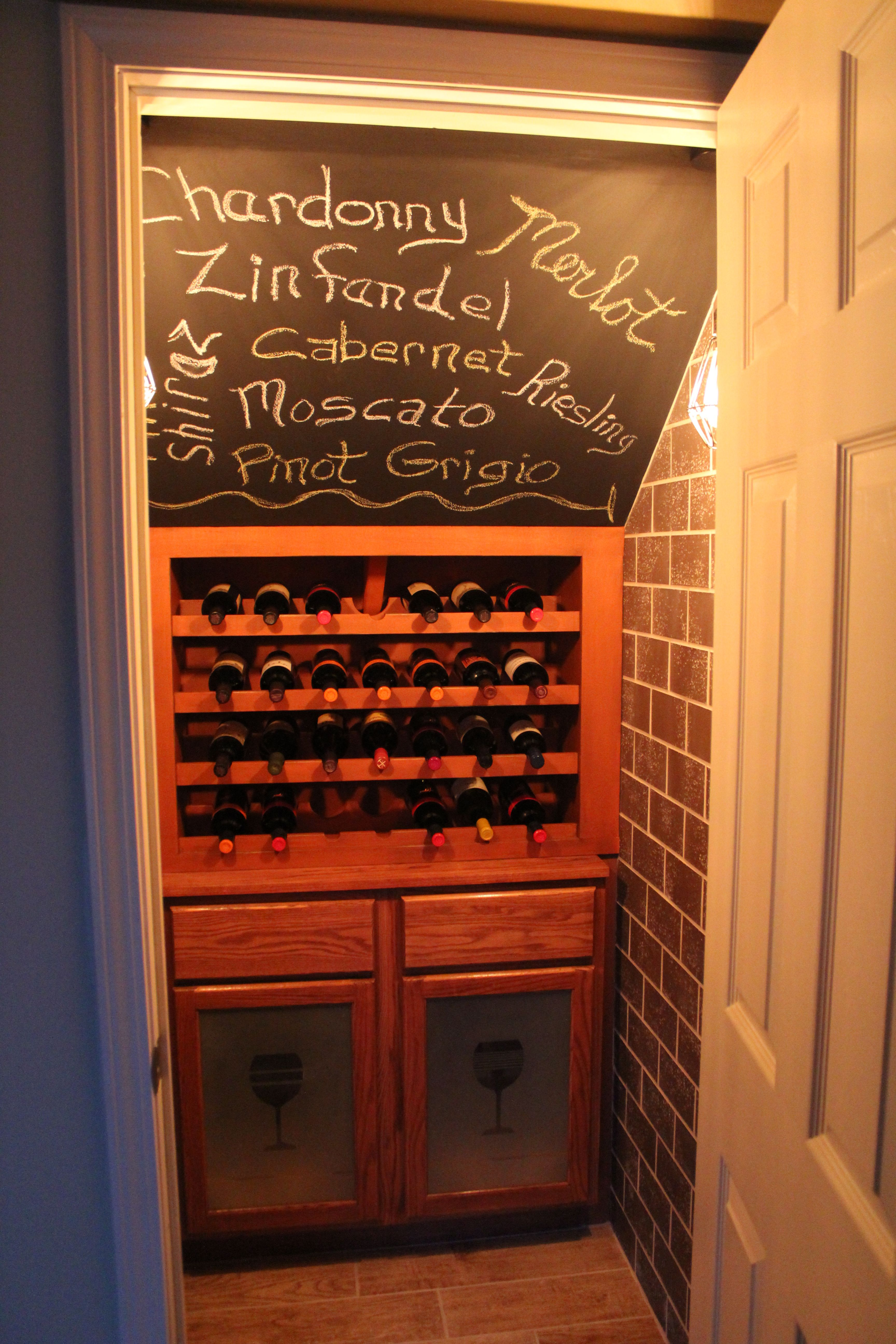 Wine closet A great way to utilize the under the stairs