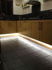 Led strip lighting in kitchen. | Belysning | Pinterest ...