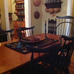 Pewter Kitchen Table And Chairs Breakfast Bar Dining Room Kathleen Joye Colonial To Primitive