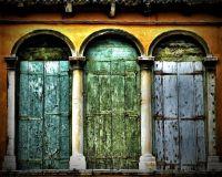 Rustic Door Decor Venice Italy Wall Art Venice Travel ...