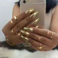The 25+ best Gold chrome nails ideas on Pinterest   Chrome ...