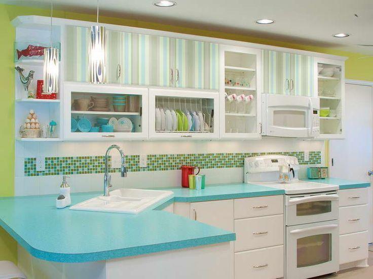 Kitchen Design Retro 50s Kitchen Decor With Striped
