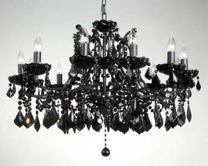 Lighting Comfortable Black Chandelier Living E Design With Impressing Interior Candle Crystal Accent Small Iron Hanging Plus Contemporary