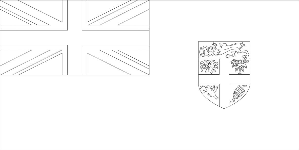 Fiji flag coloring page :: Sonlight, Core C, Window on the