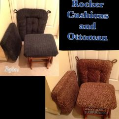 How To Recover Glider Rocking Chair Cushions Swivel Mid Century I Updated These Rocker And Reupholstered