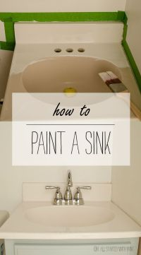 How To Paint A Sink | Sinks and House