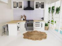 Miniature dollhouse kitchen 1:12 scale, modern dollhouse ...