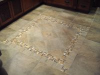 Porcelain Tile with Decorative Inlay for a kitchen area ...