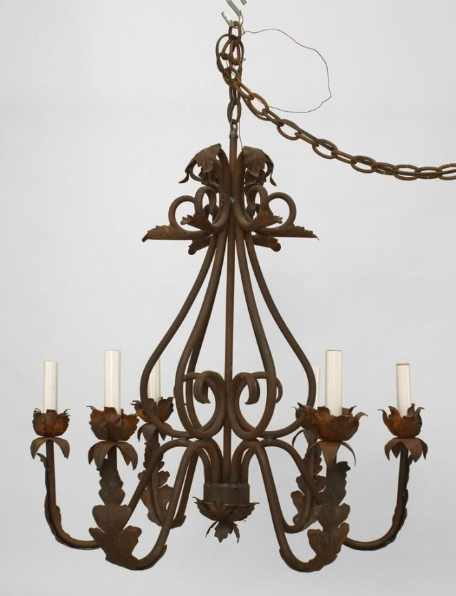 Italian Renaissance Lighting Chandelier Wrought Iron