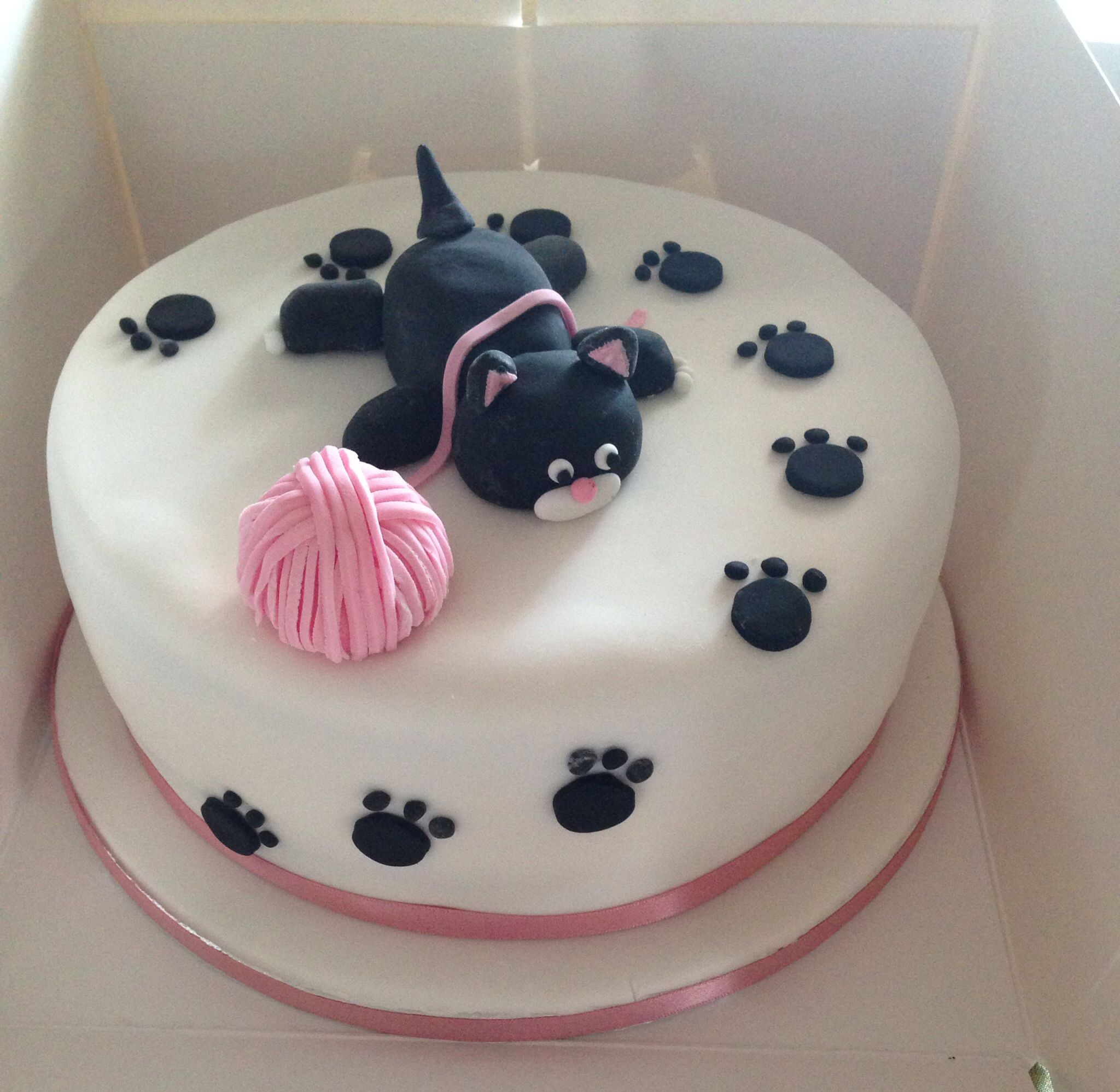 Belated Cat Birthday Cake