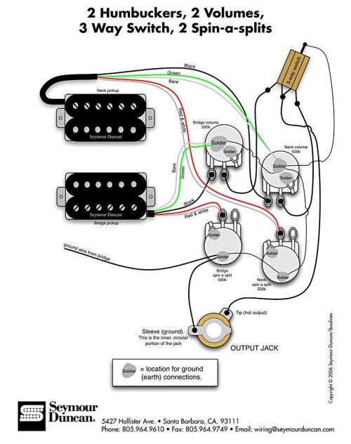 small resolution of seymour duncan wiring diagram 2 humbuckers 2 vol 3 way squier strat humbucker wiring diagram