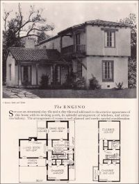 Encino House Plan - Eclectic Monterey Spanish Revival ...