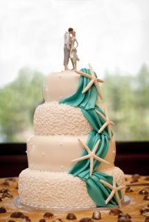 Beach Wedding Cake Decorations