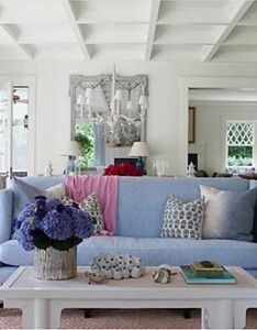 Image living room by meg braff to give the open flow and dining rooms of an east hampton new york house  light relaxed air  also blue color schemes modern interior design decor home rh pinterest