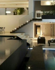 Modern interior design open plan house with an indoor swimming pool  hope one day this is the standard for housing also my place most unique ideas and exterior home rh pinterest